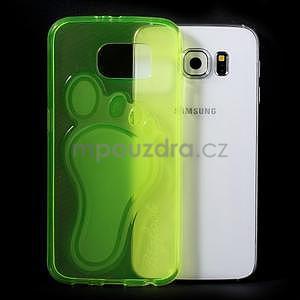 Protiskluzový gélový kryt pre Samsung Galaxy S6 - zelený - 5