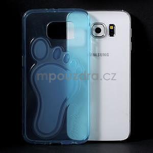 Protiskluzový gélový kryt pre Samsung Galaxy S6 - modrý - 5