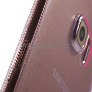 Ultra tenký gélový obal na Samsung Galaxy S6 Edge - rose - 5