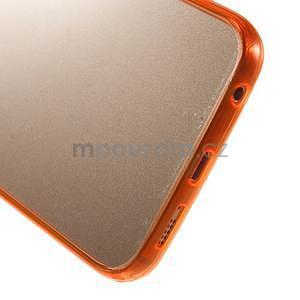 Oranžový hybridný gélový obal na Samsung Galaxy S6 Edge - 5