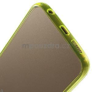 Světle žltý hybridný gélový obal na Samsung Galaxy S6 Edge - 5