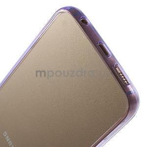 Fialový hybridný gélový obal na Samsung Galaxy S6 Edge - 5