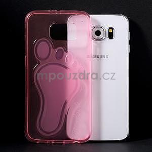 Protiskluzový gélový kryt na Samsung Galaxy S6 - rose - 5