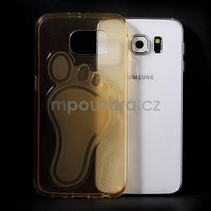 Protiskluzový gélový kryt na Samsung Galaxy S6 - zlatý - 5