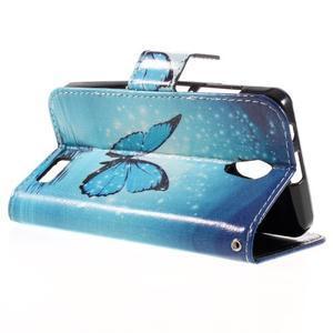 Styles peňaženkové puzdro pre mobil Lenovo A319 - modrý motýľ - 5