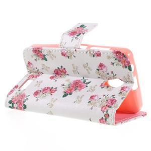 Styles peňaženkové puzdro pre mobil Lenovo A319 - kvetiny - 5