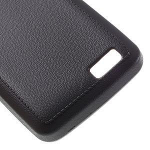 Vroubkovaný gelový obal na mobil Lenovo A319 - černý - 5