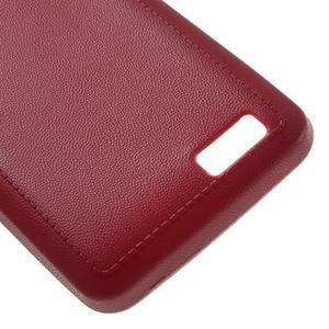Vroubkovaný gélový obal pre mobil Lenovo A319 - červený - 5