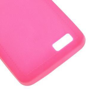 Vroubkovaný gelový obal na mobil Lenovo A319 - rose - 5