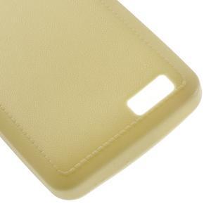 Vroubkovaný gélový obal pre mobil Lenovo A319 - žltý - 5