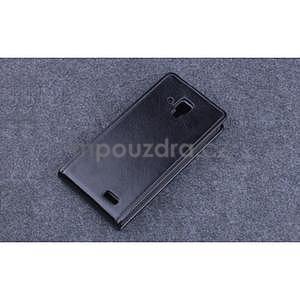PU kožené flipové puzdro na Lenovo A536 - čierne - 5