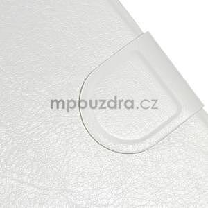 Peňaženkové PU kožené puzdro na Lenovo A6000 -  biele - 5