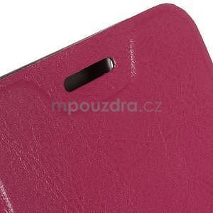 Peňaženkové PU kožené puzdro na Lenovo A6000 - rose - 5