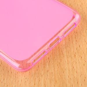 Matný gélový obal pre mobil Lenovo S60 - ružový - 5