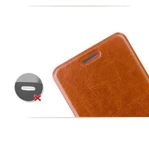 Moof PU kožené puzdro pre mobil Lenovo S90 - hnedé - 5