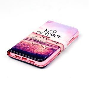 Style peňaženkové puzdro pre mobil Lenovo S90 - neprestávaj sniet - 5