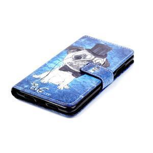 Style peňaženkové puzdro pre mobil Lenovo S90 - mops - 5