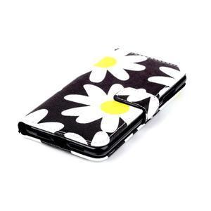 Style peňaženkové puzdro pre mobil Lenovo S90 - sedmikrásky - 5