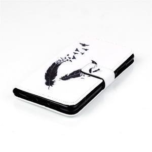 Style peněženkové pouzdro na mobil Lenovo S90 - ptačí peříčka - 5