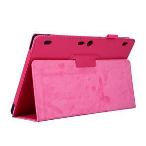 Dvoupolohový PU kožený obal pre Lenovo Tab 2 A10-70 - rose - 5