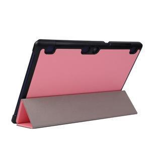 Trifold polohovatelné puzdro pre Lenovo Tab 2 A10-70 - ružové - 5