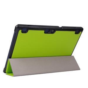Trifold polohovatelné pouzdro na Lenovo Tab 2 A10-70 - zelené - 5