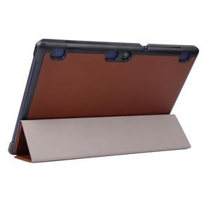 Trifold polohovatelné puzdro pre Lenovo Tab 2 A10-70 - hnedé - 5