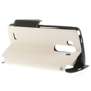 Diary puzdro s okienkom na mobil LG G3 - biele - 5