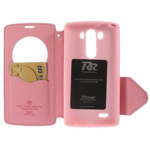 Diary puzdro s okienkom na mobil LG G3 - rose - 5