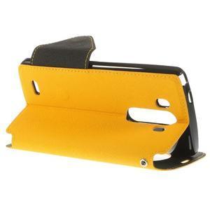 Diary pouzdro s okýnkem na mobil LG G3 - žluté - 5