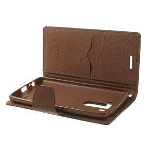 Goos peňaženkové puzdro pre LG G3 - čierne/hnedé - 5