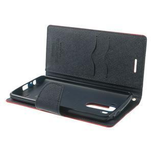 Goos peňaženkové puzdro pre LG G3 - červené - 5