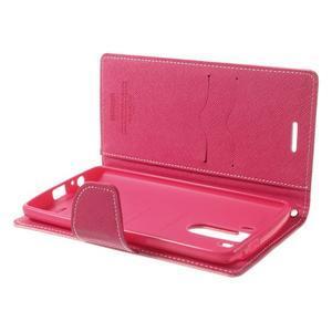 Goos peňaženkové puzdro pre LG G3 - ružové - 5