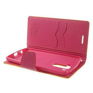 Goos peňaženkové puzdro pre LG G3 - žlté - 5