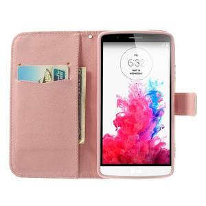Ultra motive peněženkové pouzdro na LG G3 - květiny - 5