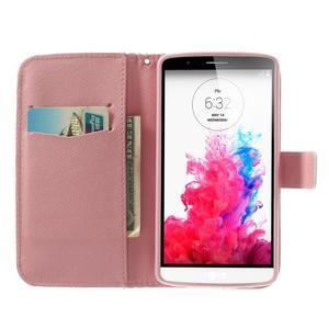 Ultra motive peňaženkové puzdro pre LG G3 - maľované ketiny - 5