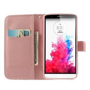Ultra motive peněženkové pouzdro na LG G3 - barevná srdíčka - 5