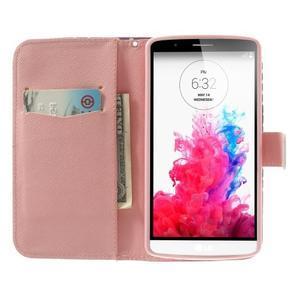 Ultra motive peňaženkové puzdro pre LG G3 - srdiečka - 5