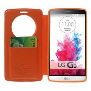 Roar peňaženkové puzdro s okienkom na LG G3 - oranžové - 5