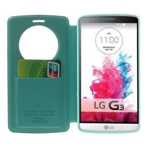 Roar peněženkové pouzdro s okýnkem na LG G3 - cyan - 5