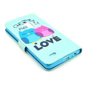 Obrázkové puzdro pre mobil LG G3 - soví láska - 5