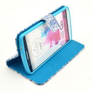 Obrázkové puzdro pre mobil LG G3 - modří sloni - 5