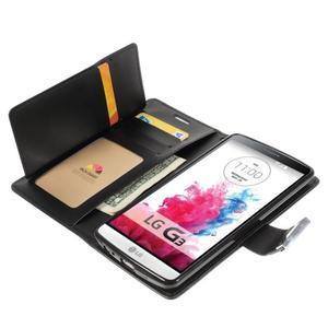Luxusní PU kožené puzdro pre mobil LG G3 - čierne - 5