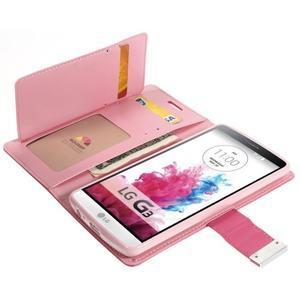 Luxusní PU kožené pouzdro na mobil LG G3 - rose - 5