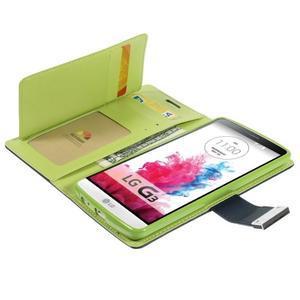 Luxusní PU kožené pouzdro na mobil LG G3 - tmavěmodré - 5