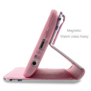 Motive koženkové puzdro pre LG G3 - fialový kvet - 5