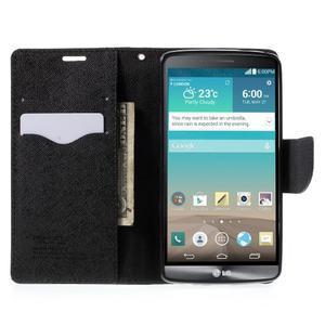 Cross PU kožené puzdro pre LG G3 - čierne - 5