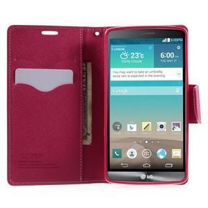 Cross PU kožené pouzdro na LG G3 - růžové - 5