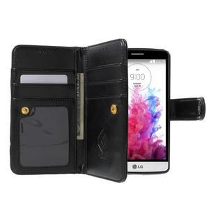 Patrové peněženkové pouzdro na mobil LG G3 - černé - 5
