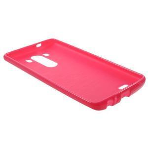 Lesklý gélový obal pre LG G3 - červený - 5